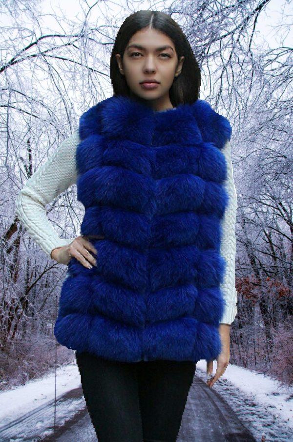 Fox fur vest woman