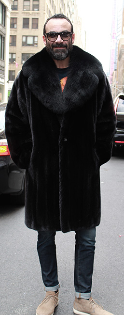 blackglama mens mink coat