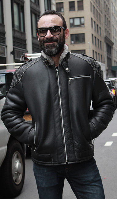 CLASSIC BLACK SHEALING MENS MOTORCYCLE JACKET