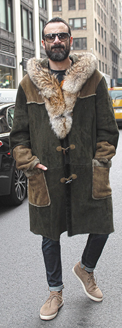 Mens Shearling Coat