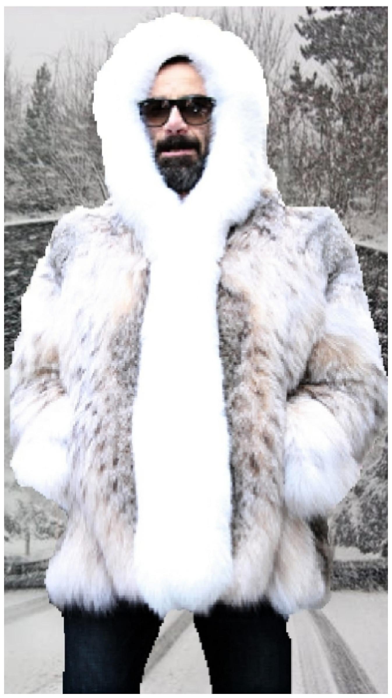 mens lynx jacket with hood