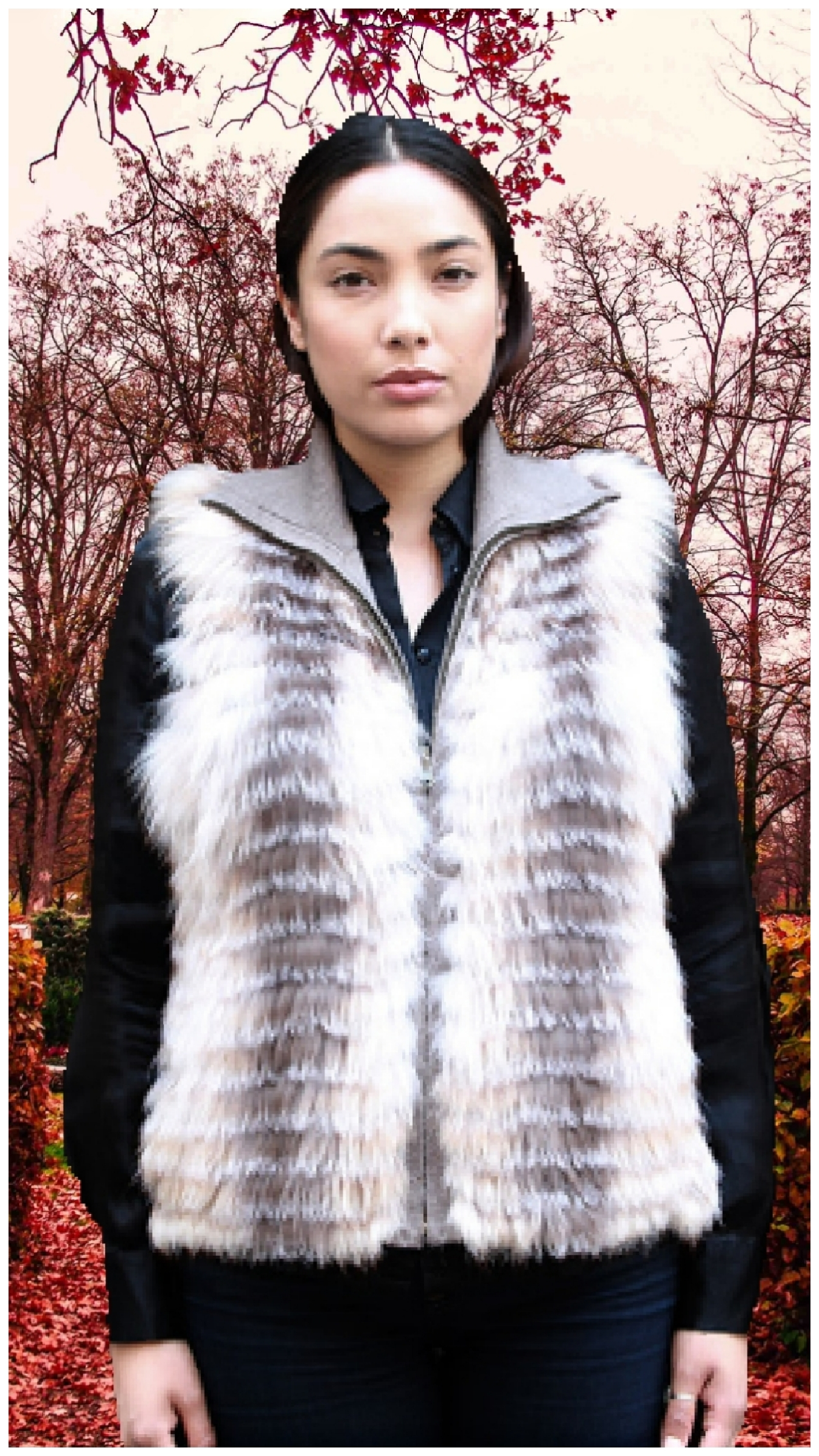 sterling fox vest knit