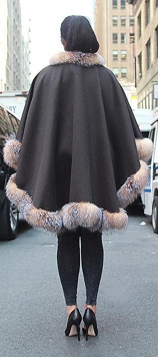 plus size fur cape