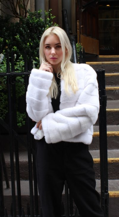 White Mink Jacket Horizontal Design