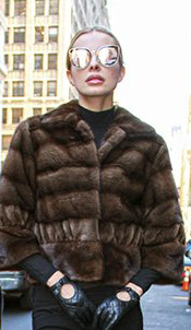Fur Clearance brown mink jacket