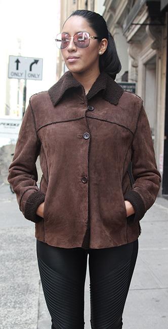 Used Brown Shearling jacket