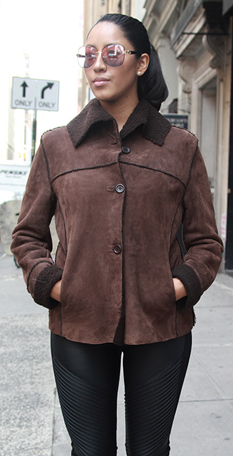 Used Brown Shearling jacket
