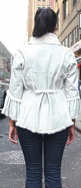 Used Ivory Shearling Jacket