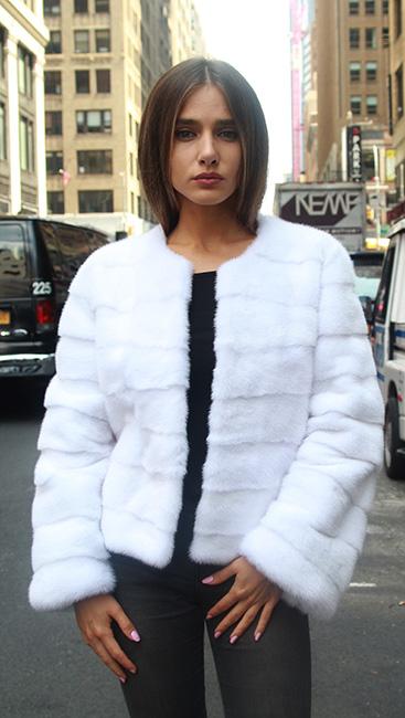 White Mink Fur jacket
