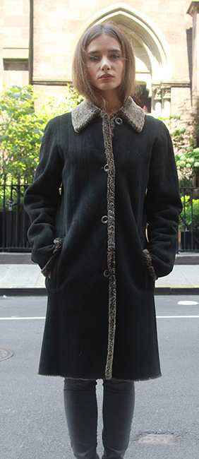 Used Black Shearling Stroller