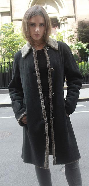 Estate Black Shearling Stroller