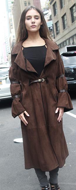 DESIGNER Brown Sheared Mink Coat