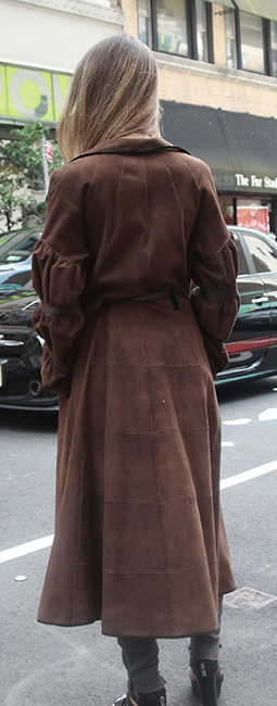 DESIGNER Brown Sheared Mink Coat