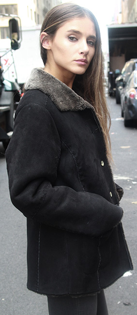 Black Fur Shearling Jacket