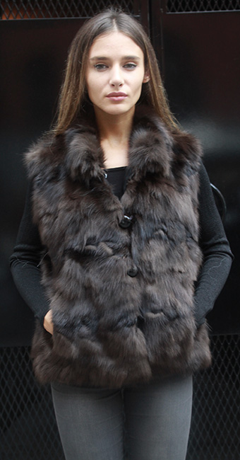 Used Russian Sable Vest Size