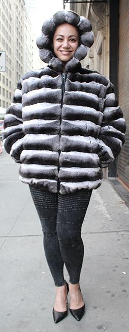 Full Size Chinchilla Jacket Hood