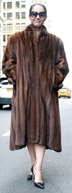 Used Demi Mink Coat Size