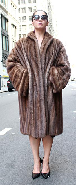 Used Demi Mink Coat
