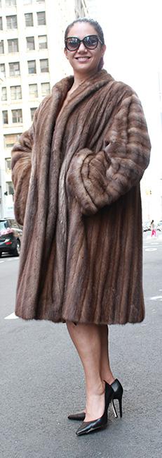 Furs Used Demi Mink Coat Size
