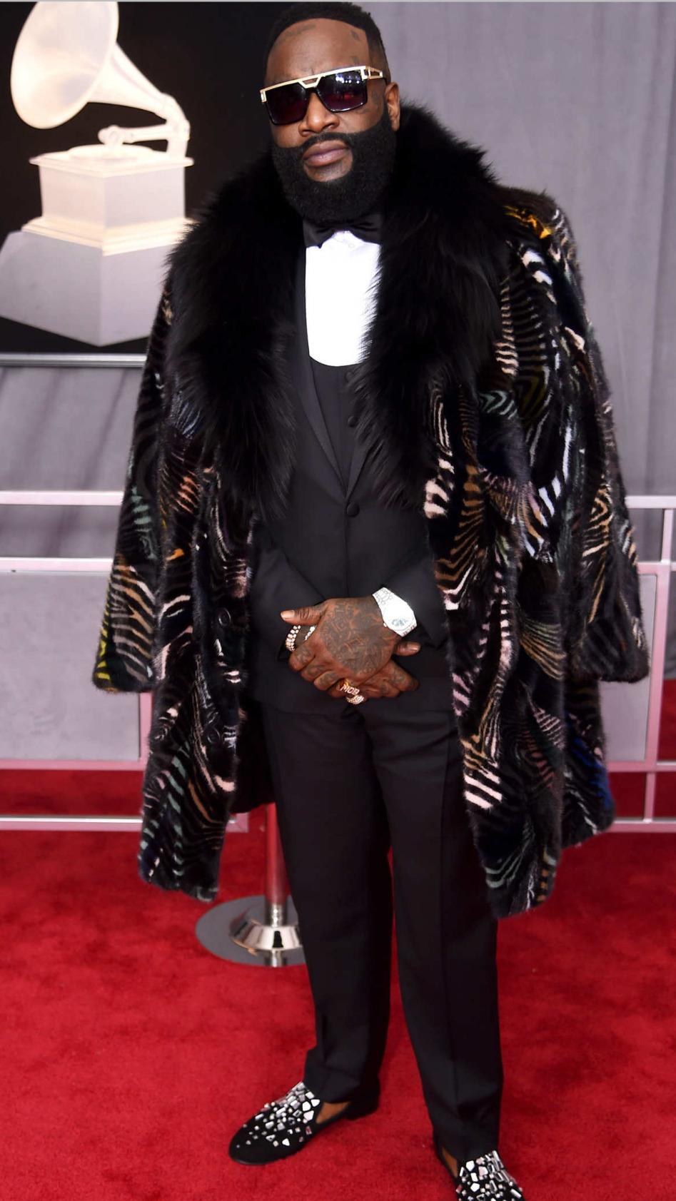 Rick Ross Grammys marc kaufman Furs