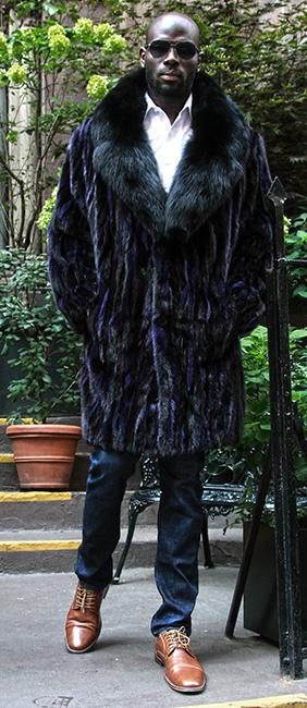 Men's Purple Ranch Mink Stroller
