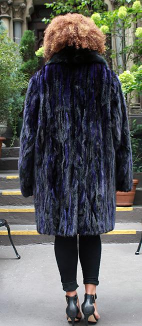 Plus Size Purple Black Mink Jackiet