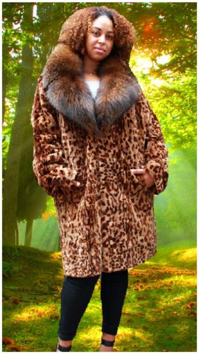 plus size mink fur coat