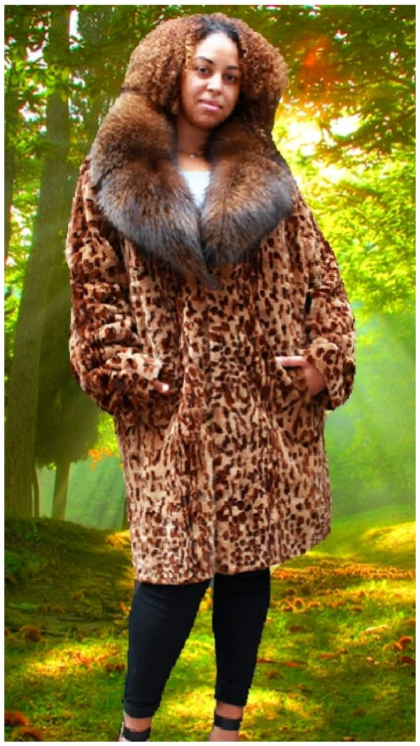 plus size mink fur coat