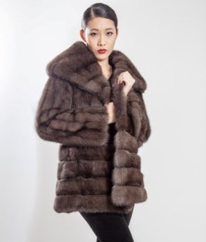 Amazing Russian Sable Fur Stroller Directional 55666