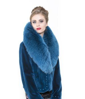 Sheared Beaver Jacket Fox Collar