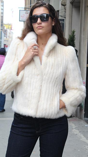 Off White Mink Fur Jacket