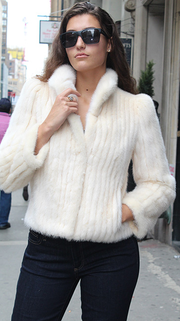 Off White Mink Fur Jacket