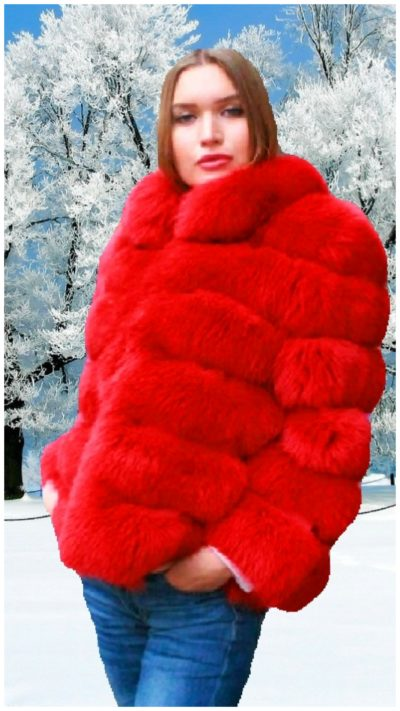 horizontal fur jacket