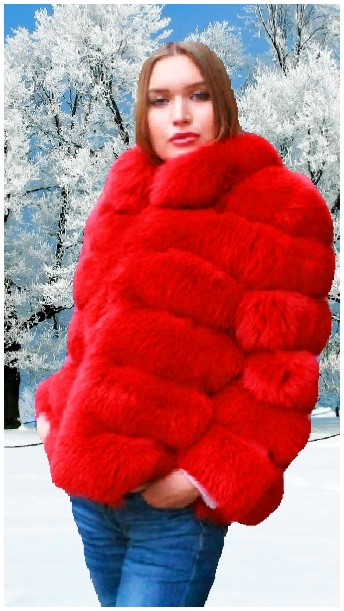 horizontal fur jacket