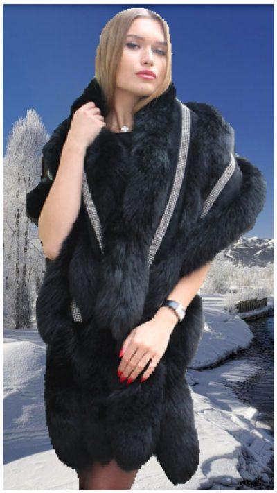 black fox fur stole