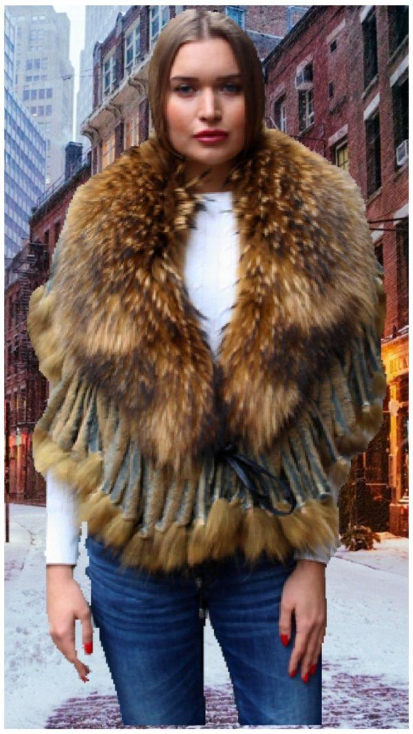 Finnish raccoon shawl