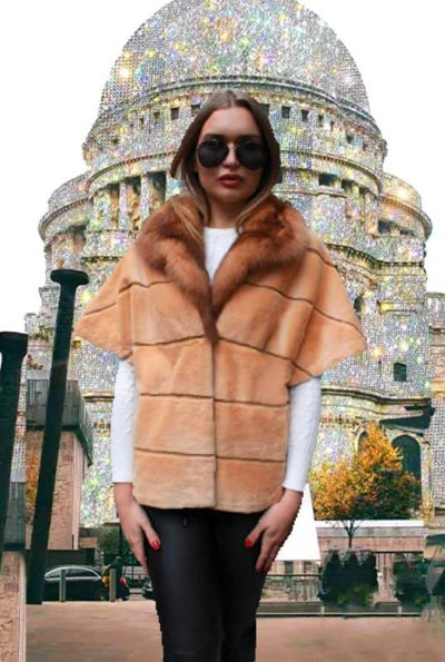 MINK VEST SABLE TRIM