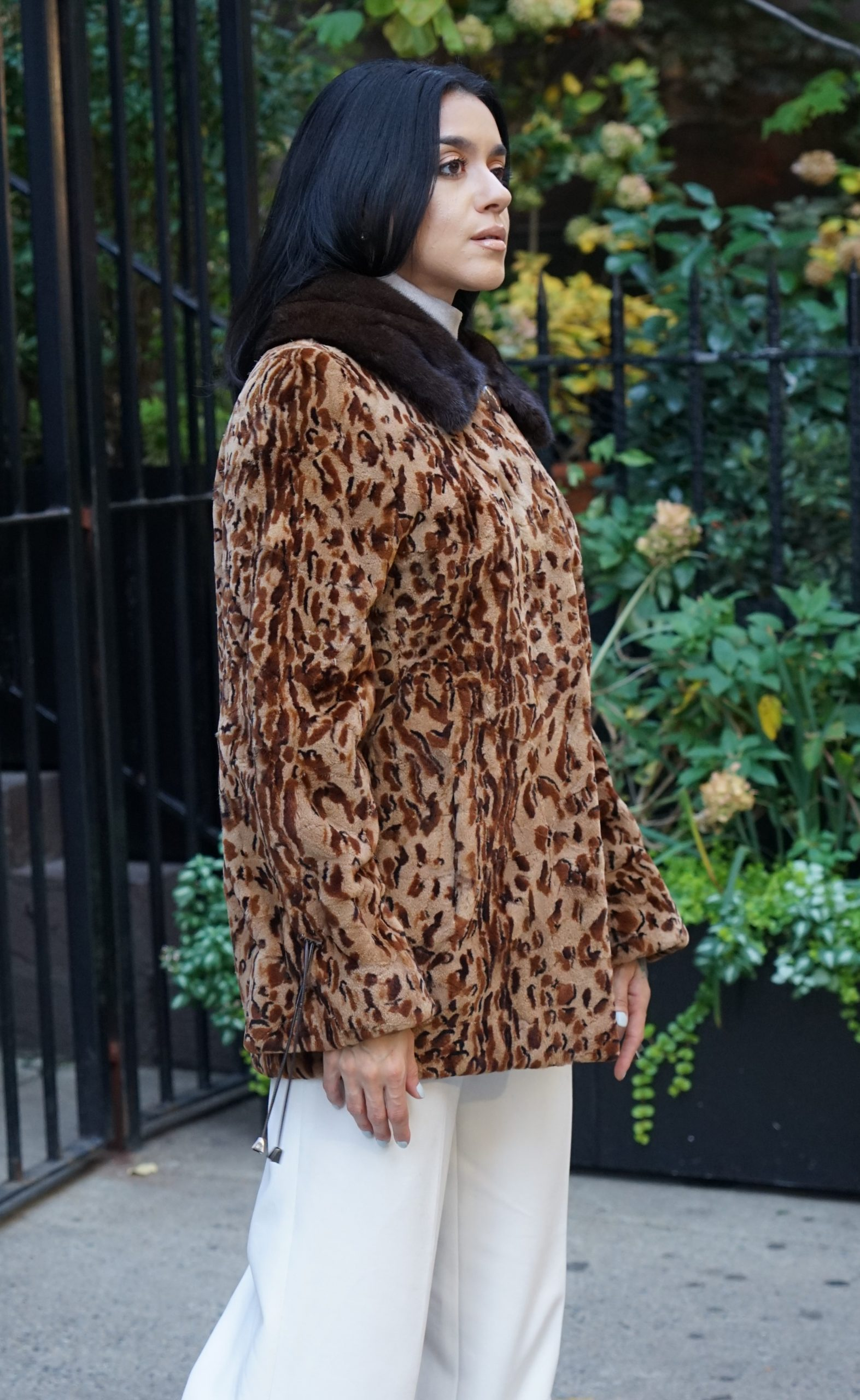animal print mink jacket