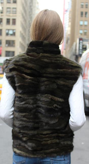 Green Camo Fur Vest