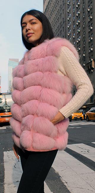 Pink Mink Fur Vest