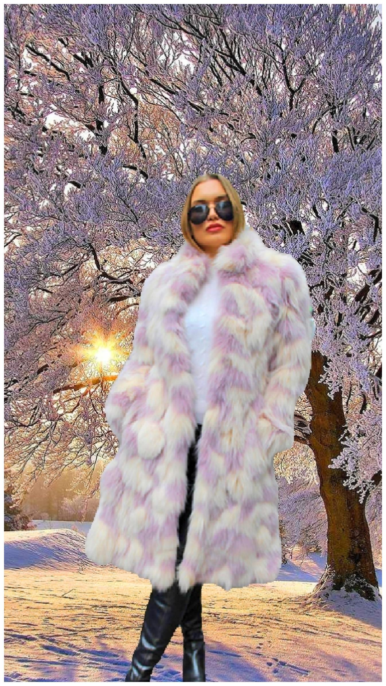 Lavender White Fox Fur