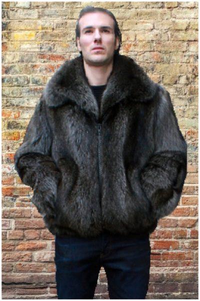 mens fur jacket