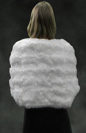 White Rex Rabbit Fur Capelet