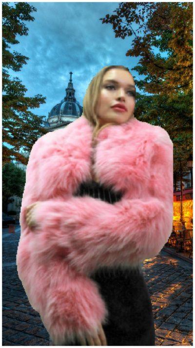 light pink furs