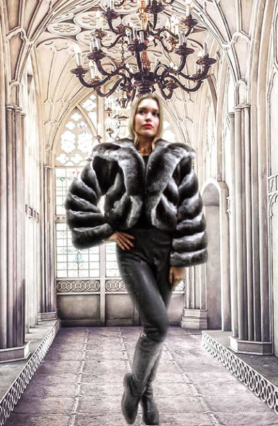 Chinchilla Fur Bolero Jacket