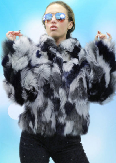 Multi Colored Fox Fur Jacket