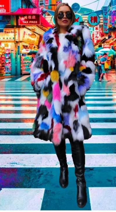 Fabulous Multi Colored Fox Stroller