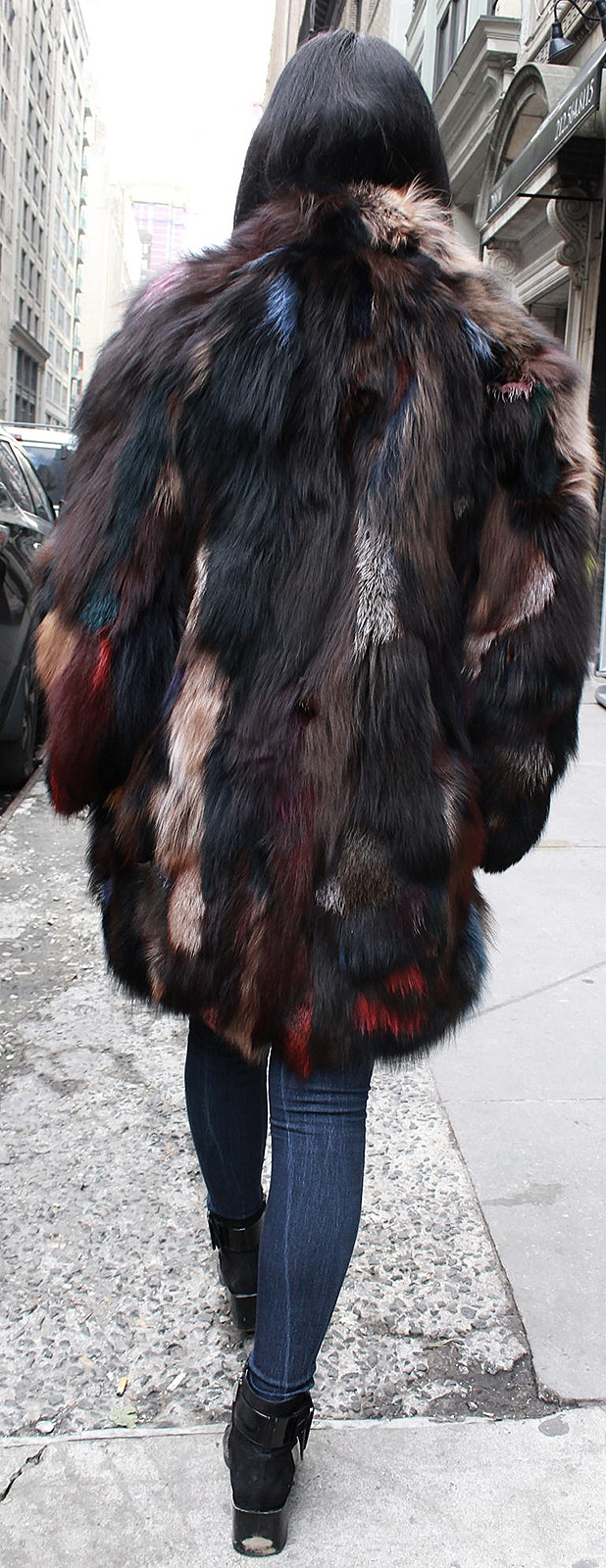Woman Fox fur strollers