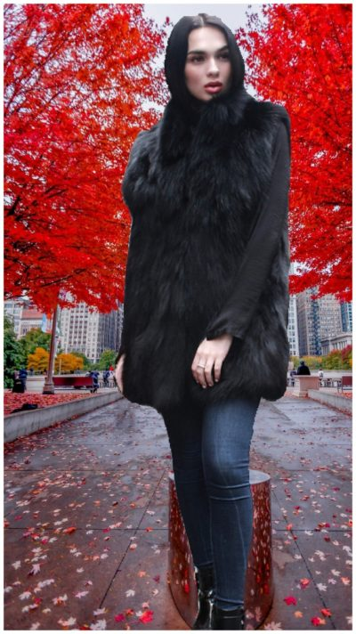 Woman Fox fur vest