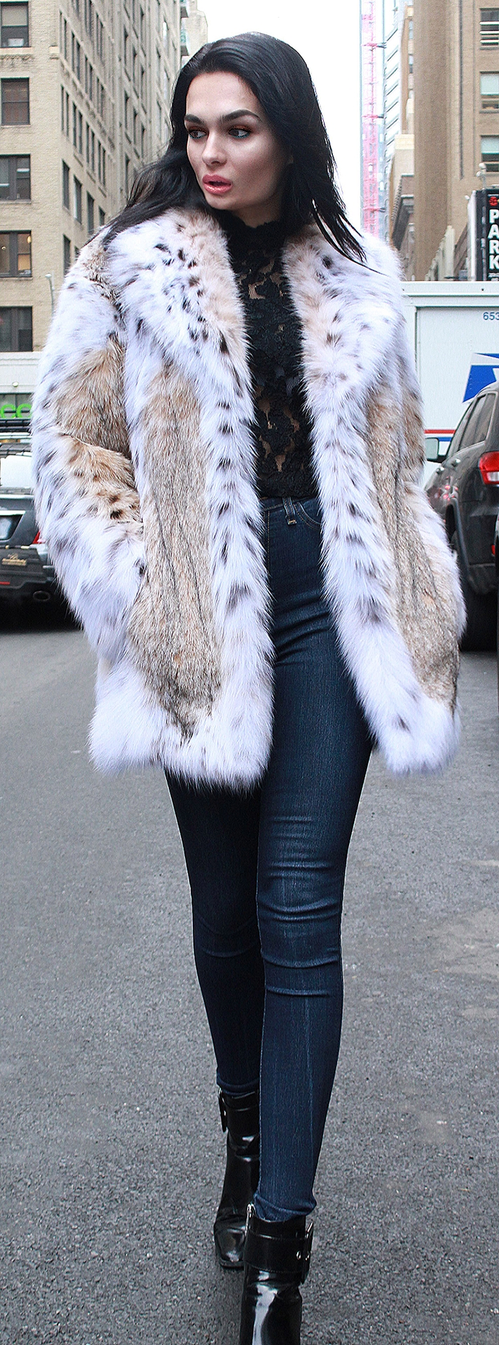American Cat Lynx Fur Jacket